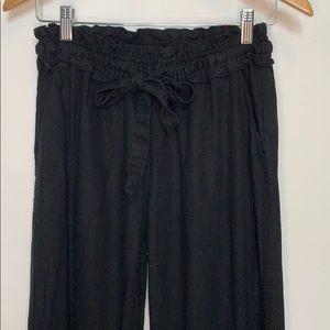 STREETWEAR SOCIETY Paper Bag Waist Pants Black